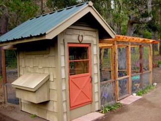 A small chicken coop